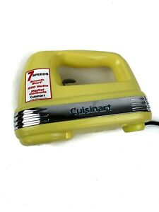 Cuisinart Yellow 7 Speed Electric Hand Mixer HM-70 Missing Beaters