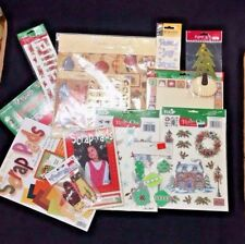 Christmas Card Scrapbooking Paper Lot Rub On Transfers Stickers Felt Shapes