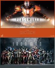 Recto Verso Poster Seulement Hot Toys Iron Man 3 Peacemaker Mark 36 XXXVI