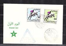 Amm/  Maroc  enveloppe  1er jour  chevaux  concours hippiques  1967