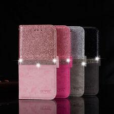 Handy Hülle Bling Glitzer Tasche Schutz Strass Handytasch für Samsung iPhone