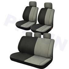 Stylish Black+Gray Car Seats Cover Cushion w/ 2mm Foam Pad Water Resistant PHYUN