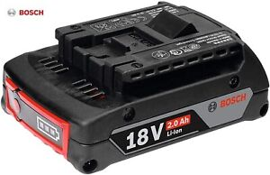 Genuine BOSCH Professional GBA 18V 2.0Ah Cordless CoolPack Lithium-Ion Battery