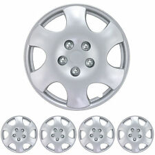 "15"" Hubcaps 4 Piece OEM Replacement Durable ABS Material Snap On Fit Wheel Caps"
