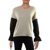 Parker Thatch Womens Ivory Comfy Cozy Casual Sweatshirt Loungewear M BHFO 1208