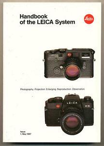 "Leitz ""Handbook of the Leica system"" catalogo gen. 1May 1987 R4 R4sMOD2 R5 D647"