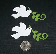 6 Wedding Doves Premade PAPER Die Cuts / Scrapbook & Card Making