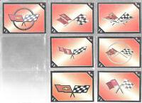 Lot Of 11 Vette Set Flag Emblems Corvette Trading Cards 1991 Inaugural Edition