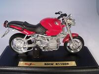 moto BMW R1100R modèle sur plaque de base de MAISTO EN 1:18