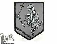 ill Gear Chained Skeleton Patch CONRUPTUS CUM MORBUS Ops Zombie Black