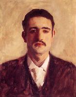 Huge Oil painting Sargent - Portrait of a Man Probably Nicola DInverno