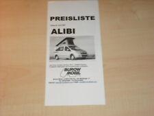 29173) Burow mobil alibi Preisliste Prospekt 2007