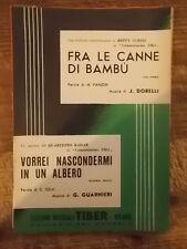 """SPARTITO CURTIS """"FRA LE CANNE DI BAMBU' """" +  RADAR """"VORREI NASCONDERMI.."""""""
