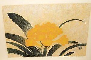YUKIO KATSUDA #110 FLORAL LIMITED HAND SIGNED ORIGINAL LITHOGRAPH