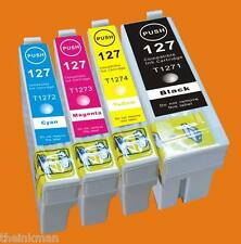 T127 INK 4 PACK FOR EPSON WORFORCE WF-7510 & WF-7520  Non OEM
