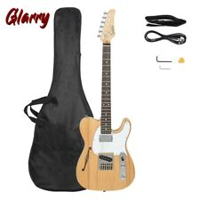 More details for glarry tele-style electric guitar rosewood f-board semi-hollow set tool uk stock