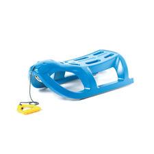 Schlitten Kinderschlitten aus Kunststoff Rodelschlitten Winter Blau Sea Lion