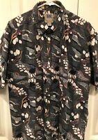 Kahala Avi Print Collection Mens Hawaiian Shirt aloha ocean abstract Size XL