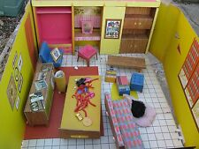 1962 Barbie's Dream House Doll Case Furniture & Lots of Accessories, Scarce Find