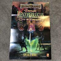 "TSR AD&D 1992  MENZOBERRANZAN Promo Poster FORGOTTEN REALMS 31""x21"" Large"
