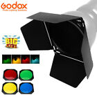 Godox Barn Door  Honeycomb Grid  4 Color Filters BD-04 For Standard Reflector