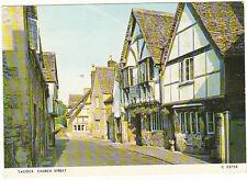 Unused Postcard Wiltshire, Church st Lacock, c2375x