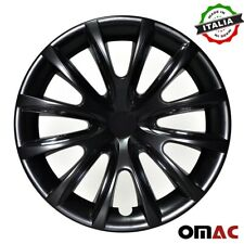 "15"" Inch Hubcaps Wheel Rim Cover For Mercedes Glossy Black Insert 4pcs Set"
