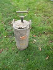 Vintage fire water can pump WCD Wisconsin Conservation Department extinguisher