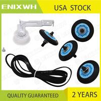 For Samsung Dryer Repair Drum Support Roller &Belt &Idler Pulley Kit DC97-16782A