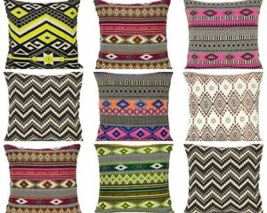 Indian Knitted Cushion Cover Striped Cotton Pillow Case Pillow Cover Throw Cases