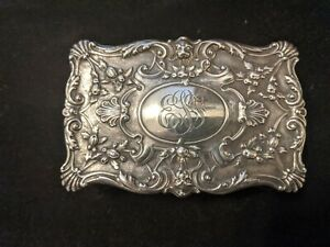 Gorham Sterling Silver Repousse Cigarette / Trinket Box