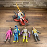 Vintage 1987 1989 The Real Ghostbusters 5 Action Figure Lots And Vehicle