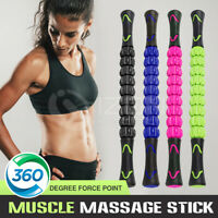 Travel Massager Roller Stick Yoga Trigger Point Sports Muscle Body Massage Tool