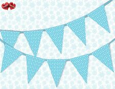 Winter pattern snowflake blue Christmas Bunting Banner 15 flags by PARTY DECOR