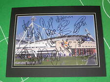 Bolton Wanderers FC Mounted Stadium Photo Signed x 17 2015/16 1st Team Squad