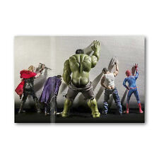 A • 607 Photo Fridge Magnet Funny Super Hero Hulk Joker Thor Spider Man