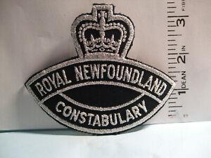 police patch   ROYAL NEWFOUNDLAND CONSTABULARY NEWFOUNDLAND CANADA   MYLAR CROWN
