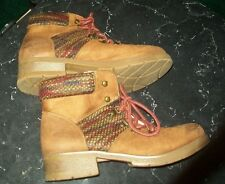 Mossimo Supply Brown Faux Suede Hiking Boots; Sz.11; Ankle-High /Laces (TARGET)