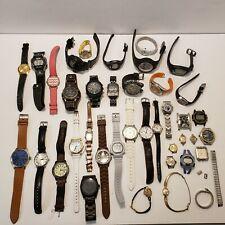 Wholesale Watch Vintage Lot 38 Pieces G Shock Timex Geneva Elgin Fossil Bulova