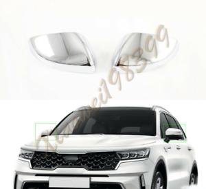 ABS Chrome Exterior Rear View Mirror Cover Trim 2PCS For Kia Sorento 2021