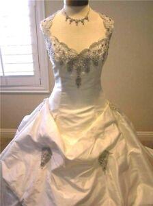Yolanda for Irene GRACE SILK Bridal ball gown Wedding Dress Ivory sz 10 US
