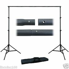 Photography 10Ft Adjustable Background Support Stand Photo Backdrop Crossbar Kit
