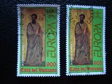 VATICAN - timbre yvert et tellier n° 1105 x2 obl (A28) stamp (A)