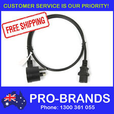1m Piggyback IEC Plug 1.0mm Power Cable Lead Cord Jug Black Piggy Back 1-Metre