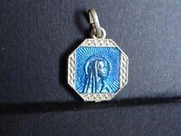 medaille religieuse  Virgin Marie Enamel  2 x 1.6 cm  MR 0408