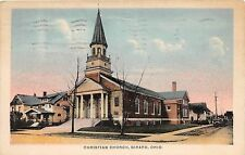 A28/ Ohio Postcard Girard Christian Church Building 1943