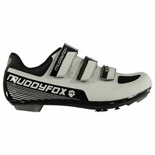 Muddyfox Kids RBS100 Junior Cycling Shoes Road Breathable Mesh Panels Strap Hook