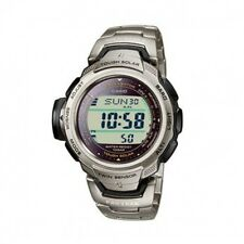 Casio Retro Pathfinder Solar Atomic Titanium Watch PRW500T-7V