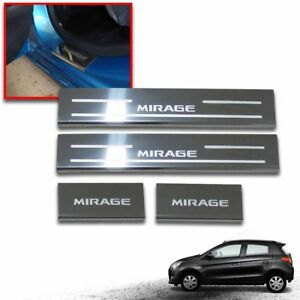 CHROME DOOR STEP PLATE SCUFF PLATE SILL FIT FOR MITSUBISHI MIRAGE 2012-2015