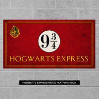 Hogwarts Express Metal Sign - Harry Potter Gift Plaque Platform 9 Train Sign Red